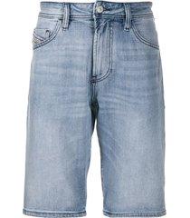 diesel slim-fit denim shorts - blue