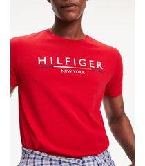 t-shirt manga corta rojo tommy hilfiger
