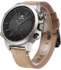 orologi da polso da uomo in pelle impermeabile con cinturino in pelle da uomo