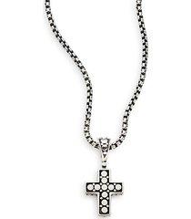 dot sterling silver cross pendant