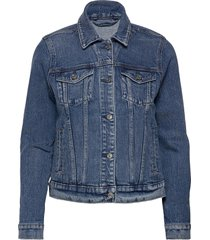 anf womens outerwear jeansjack denimjack blauw abercrombie & fitch
