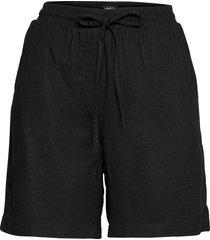 shorts gillian linen shorts flowy shorts/casual shorts svart lindex