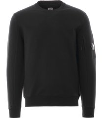 crew neck sweatshirt fleece - black 39a-5086w 999