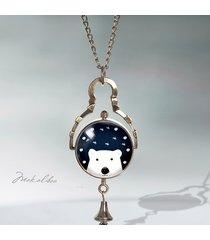 prezent - miś polarny - zegarek sferyczny