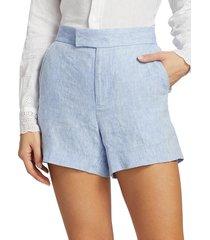 polo ralph lauren women's austin linen shorts - blue - size 12
