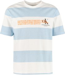 calvin klein jeans striped cotton t-shirt