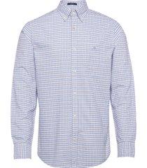 d1. oxford check reg bd overhemd casual blauw gant