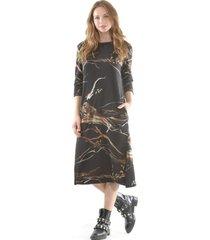 vestido estampado lanilla negro bous
