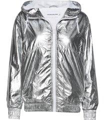 metallic windbreaker zomerjas dunne jas zilver calvin klein jeans