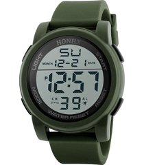 reloj hombres deportivo militar digital led hnx verde