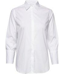 larina ribbon shirt 7/8 overhemd met lange mouwen wit mos mosh