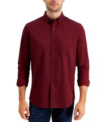 club room men's brushed cotton flannel shirt, created for macy's