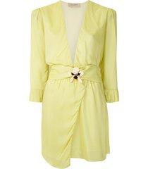 adriana degreas embellished short dress - yellow