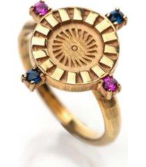 honey minx radiant sun signet ring