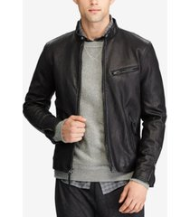 polo ralph lauren men's cafe racer leather jacket