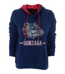 colosseum women's gonzaga bulldogs genius hooded sweatshirt