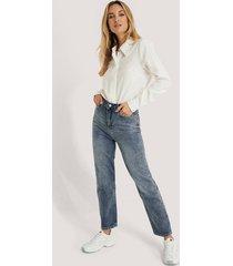 trendyol jeans med hög midja - blue
