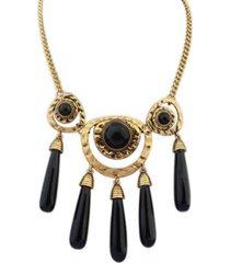 collar etnico negro sasmon cl-10520