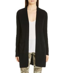 women's atm anthony thomas melillo cashmere open cardigan, size large - black