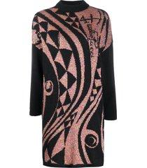 emilio pucci sequin-embellished jumper dress - black