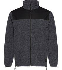 fleece zip puller sweat-shirt trui grijs rains