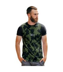 camiseta militar camu verde escuro dnv street wear