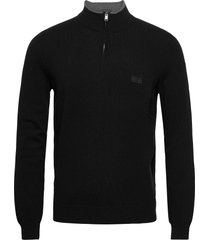 barlo-m knitwear half zip jumpers svart boss