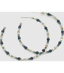 lane bryant women's beaded hoop earring onesz night sky
