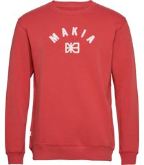 brand sweatshirt sweat-shirt trui rood makia