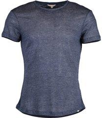 navy ob-t linen melange t-shirt
