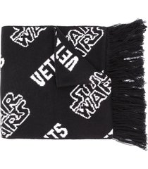 vetements x star wars fringed logo scarf