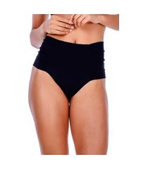 calcinha summer soul hot pants franzido preto