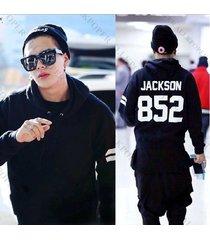 kpop got7 jackson 852 cap hoodie sweater pullover fleece coat free shipping