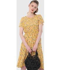 vestido amarillo-verde-fucsia paris district