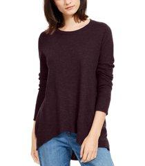 eileen fisher high-low organic sweater, regular & petite
