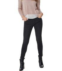 jeans only daisy gris - calce ajustado