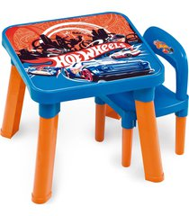 mesa com cadeira hot wheels fun divirta-se