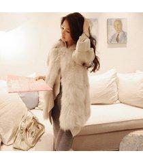 2017 new autumn winter faux fur vest women outerwear v-neck waistcoat