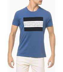 camiseta mc slim institucional flag - azul médio - p