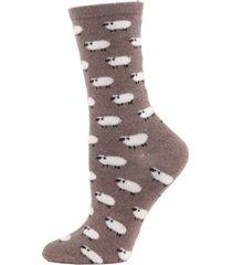 sheep cashmere women's crew socks