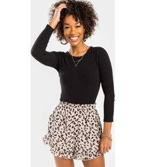 trisha leopard shorts - leopard