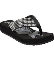 women's jeweled low thong sandal women's shoes