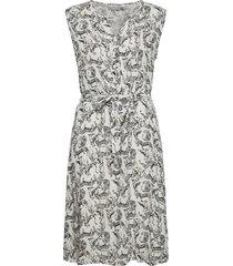 fralcrinkle 3 dress knälång klänning svart fransa