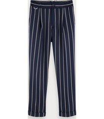 scotch & soda blake - pleated wool blend trousers regular slim fit