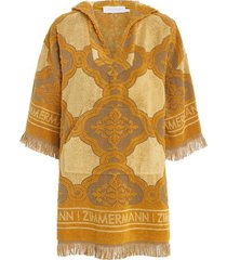 aliane terry towel mini dress