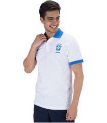 camisa polo da seleção brasileira 2019 core matchup nike - masculina - branco/azul