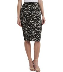 vince camuto women's animal print textured knit pencil skirt