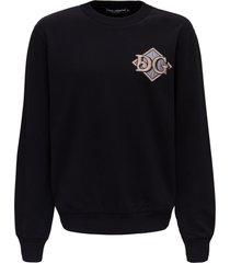 dolce & gabbana sweatshirt with monogram patch
