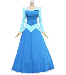 aurora blue dress sleeping beauty princess aurora cosplay costume for adult girl