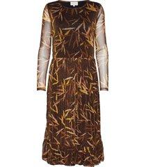 celly dress jurk knielengte bruin minus